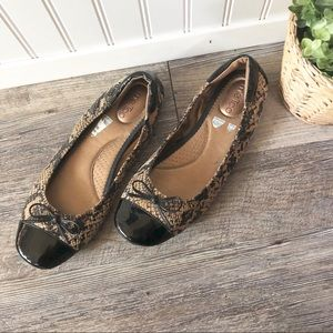 Me Too   Python Patent Leather Ballet Flats